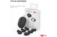 Аксессуары для наушников AHASTYLE Vacuum Silicone Covers for Apple AirPods & EarPods - 3 Large Pairs Black (AHA-01662-BLK)