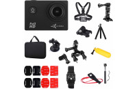Экшн-камеры AirOn Simple Full HD Black Set 30 in 1 (69477915500061)