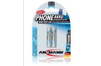 Аккумуляторы Ansmann AAA2 DECT800 mAh (2шт)