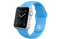 Apple 38mm Silver Aluminum Case with Blue Sport Band (MJ2V2)