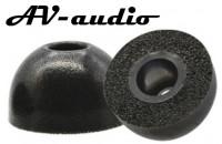 Аксессуары для наушников AV-audio Foam tips TWS 4,5mm Black (1 пара)