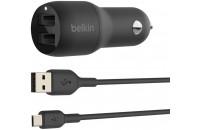 Кабели и зарядные уст-ва Belkin Car Charger 24W Dual USB-A MicroUSB Black (CCE002BT1MBK)