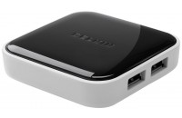 Belkin USB 2.0 x 4 Port Mobile Hub активный с БП Black/White (F4U020vf)