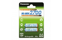 Panasonic High Capacity AA 2700 mAh 2BP Ni-MH (BK-3HGAE/2BE)