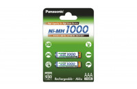 Panasonic High Capacity AAA 1000 mAh 2BP NI-MH (BK-4HGAE/2BE)