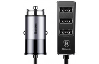 Кабели и зарядные уст-ва Baseus Enjoy Together Four Interfaces Output Patulous Car Charger 5.5A  Black (CCTON-01)