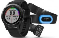 Смарт-часы Garmin Fenix 5 Sapphire Performer Bundle Black with Black Band (010-01688-32)