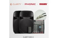 Clarity MCS-3 (2xMAX15MH-S+1xPhonic AM 220P+ 2xMogami SI5)