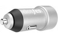 Кабели и зарядные уст-ва Dotfes Dual Ports Metal Smart B03 4.8A Max Silver (DF-B03-CC-SI)