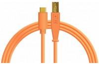 Кабели аудио-видео DJ Techtools Chroma Cables: USB-C Neon Orange (Type-C to USB-B)