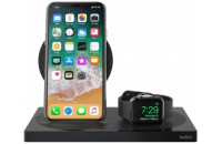 Кабели и зарядные уст-ва Belkin Dock Charge Wireless 2 in 1 Pad/Stand/Apple Watch Black (F8J234VFBLK-APL)