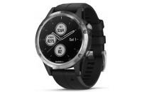 Смарт-часы Garmin Fenix 5 Plus Glass Silver with Black Band (010-01988-11)