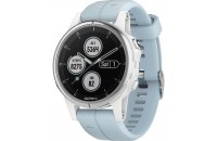 Смарт-часы Garmin Fenix 5S Plus Glass White with Sea Foam Band (010-01987-23)