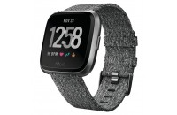 Смарт-часы Fitbit Versa Fitness Watch Special Edition Small/Large Charcoal Woven/Graphite Aluminum  (FB505BKGY)