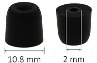 Наушники AV-audio Foam tips T100 (S) BK (1 пара)