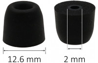 Наушники AV-audio Foam tips T100 (M) BK (1 пара)