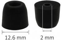 Аксессуары для наушников AV-audio Foam tips T100 (M) BK (1 пара)