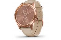 Смарт-часы Garmin Vivomove Luxe Rose Gold-Beige Leather (010-02241-21)
