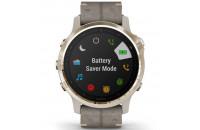 Смарт-часы Garmin Fenix 6S Pro Sapphire Light Gold with Shale Grey Leather Band (010-02159-40)