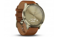 Смарт-часы Garmin Vivomove HR Premium Gold Tone Light with Small/Medium Brown Band (010-01850-25)