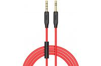 Кабели аудио-видео Hoco AUX 3.5 - 3.5 1m Cable with Mic Black (UPA-12)