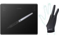 Графические планшеты HUION HS64 + перчатка