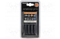 Зарядные устройства Panasonic Smart-Quick Charger+Eneloop Pro 4AA 2500 mAh NI-MH (K-KJ55HCD40E)