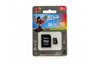 Карты памяти и кардридеры Silicon Power 16 GB microSDHC UHS-I Elite SP016GBSTHBU1V10