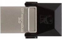 USB Flash накопители Kingston DataTraveler MicroDuo 32GB microUSB OTG Metal (DTDUO3/32GB)