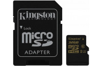 Kingston microSDHC 32GB Class 10 UHS-I U3 R90/W45MB/s 4K + Adapter (SDCG/32GB)