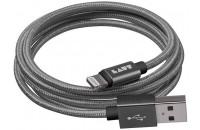 Кабели и зарядные уст-ва Laut Lightning to USB Charge & Sync Cable Link 1.2m Gun Metal (LAUT_LKM_LTN1.2_GM)