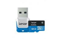 Карты памяти и кардридеры Lexar 32 GB Micro SDHC 633x UHS-I C10 High-Performance + USB адаптер (LSDMI32GBB1EU633R)