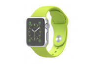 Apple 38mm Silver Aluminum Case with Green Sport Band (MJ2U2)