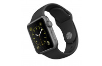 Смарт-часы Apple 38mm Space Gray Aluminum Case with Black Sport Band (MJ2X2)