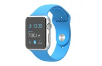 Apple 42mm Silver Aluminum Case with Blue Sport Band (MJ3Q2)