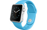 Смарт-часы Apple 38mm Silver Aluminum Case with Blue Sport Band (MLCG2)