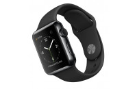 Смарт-часы Apple 38mm Space Black Stainless Steel Case with Black Sport Band (MLCK2)