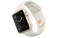 Смарт-часы Apple 38mm Gold Aluminum Case with Antique White Sport Band (MLCJ2)
