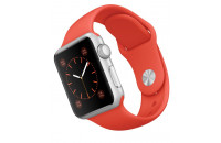 Смарт-часы Apple 38mm Silver Aluminum Case with Orange Sport Band (MLCF2)