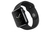 Смарт-часы Apple 42mm Space Black Stainless Steel Case with Black Sport Band (MLC82)