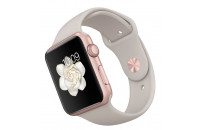 Смарт-часы Apple 42mm Rose Gold Aluminum Case with Stone Sport Band (MLC62)