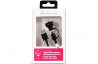 Ozaki USB 2.0 (AM/microB +Apple Lightning), 1м Black (OT225BK)