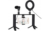 Кольцевой свет Puluz Kit 4 in 1 (Ring Light, Mount, Phone Holder, Microphone) (PKT3028)