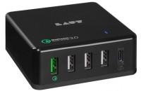 Усилители/ЦАПы Laut QUINT-X2 USB Charger Black (LAUT_QX2_UK_BK)