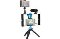 Кольцевой свет Puluz Kit 4 in 1 (Light, Mount, Phone Holder, Microphone) (PKT3023)