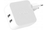 Кабели и зарядные уст-ва Belkin USB Home Charger Playa 12W DUAL USB 2.4A White (PP0007VFC2-PBB)