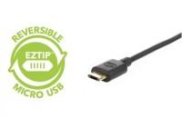 Кабели, зарядные уст-ва, аккумуляторы Scosche Micro USB Charge/Sync Cable Reversible 1.2m Black (HDEZ4)