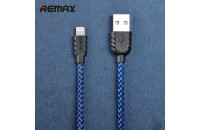 Кабели, зарядные уст-ва, аккумуляторы Remax USB Lightning Cable Suteng 1m Blue/Black