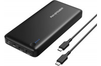 Кабели и зарядные уст-ва RavPower USB C Power Bank 26800mAh 30W for Laptops, MacBook Black (RP-PB058)
