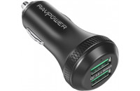 Кабели и зарядные уст-ва RavPower Qualcomm Quick Charge 3.0 36W Dual USB Car Charger (RP-VC007)